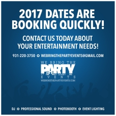 We Bring the Party Events social media graphic